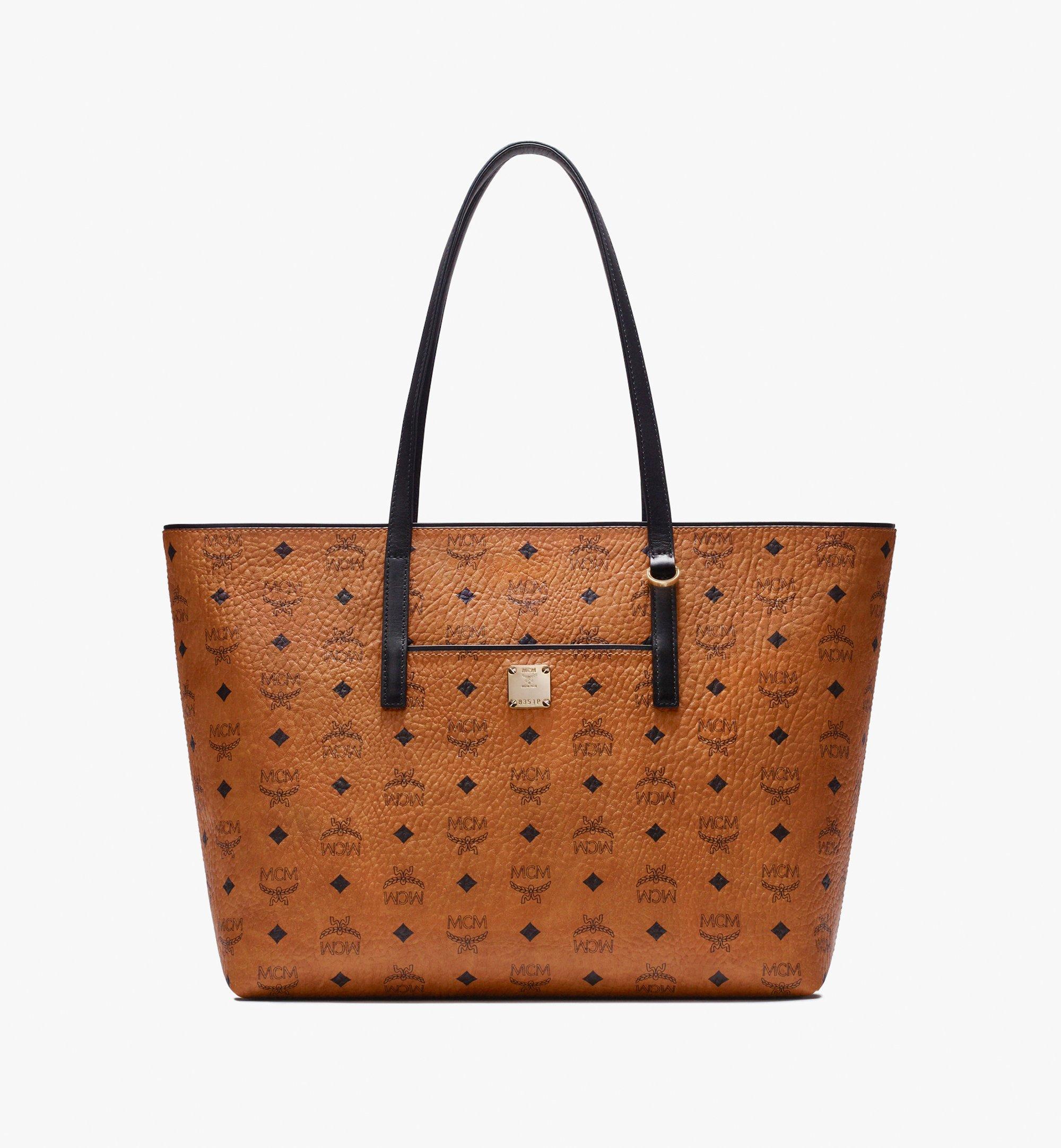 Medium Anya Shopper en Visetos Cognac | MCM® DE