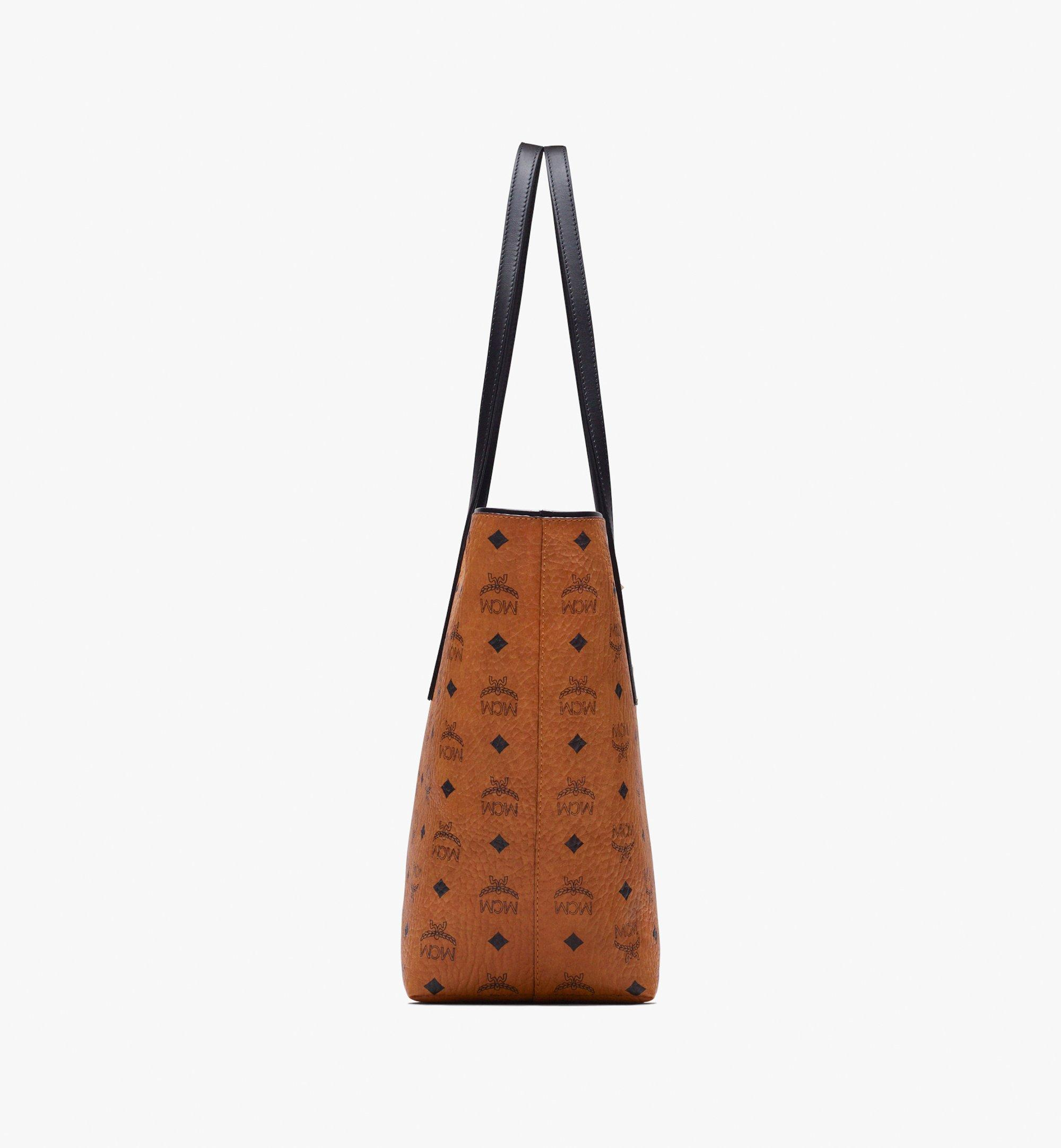 Medium Anya Shopper in Visetos Cognac   MCM® DE
