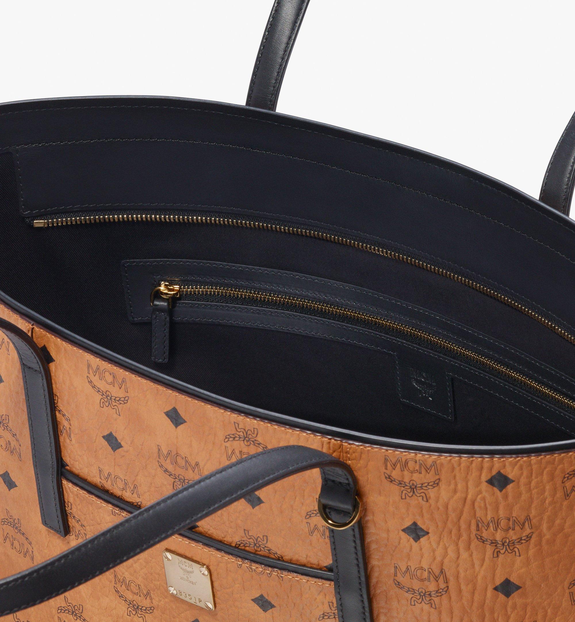 MCM Visetos 系列的 Anya Shopper 包款 Cognac MWP9AVI61CO001 更多視圖 3