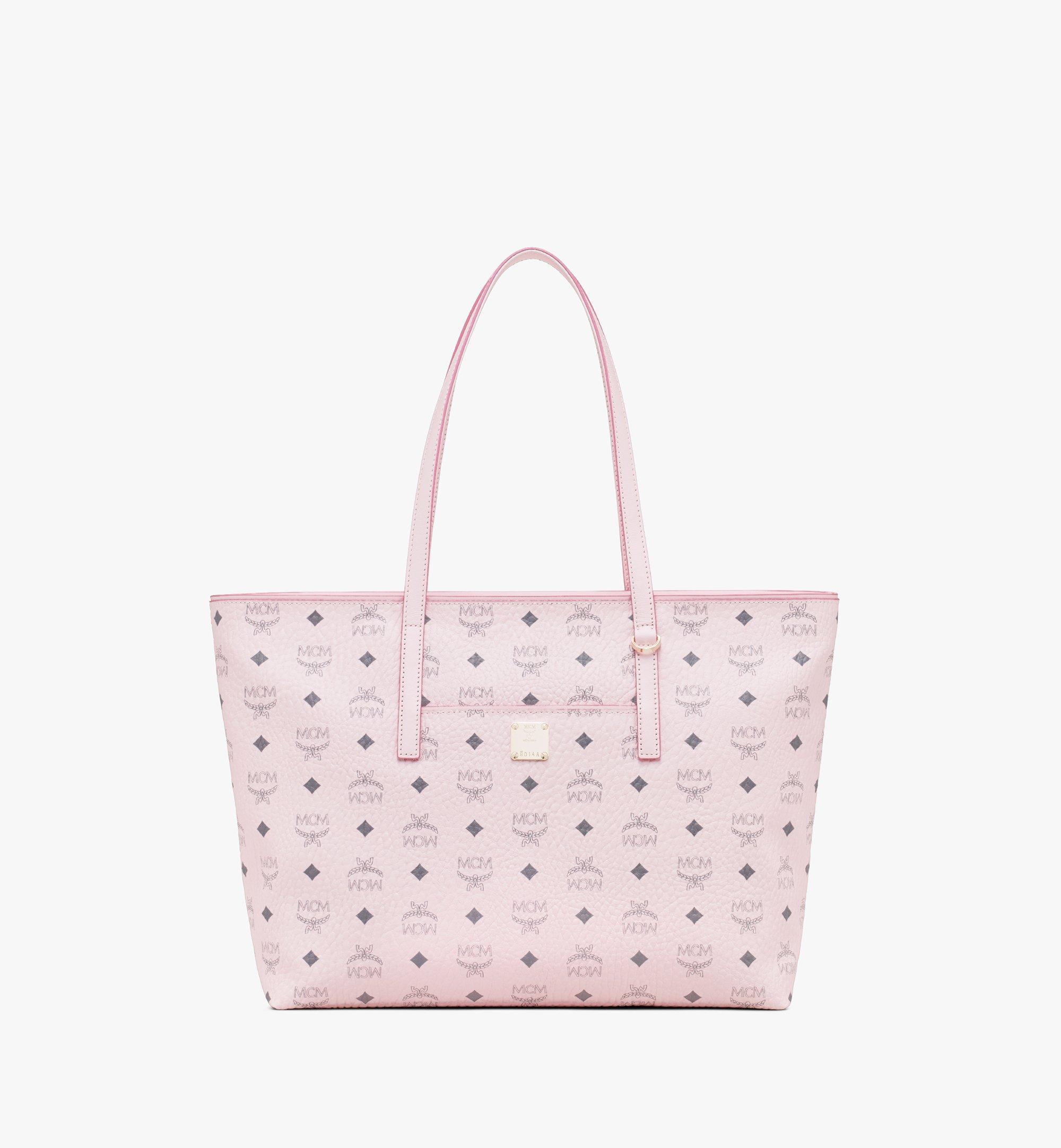 MCM Visetos 系列的 Anya Shopper 包款 Pink MWP9AVI61QH001 更多視圖 1