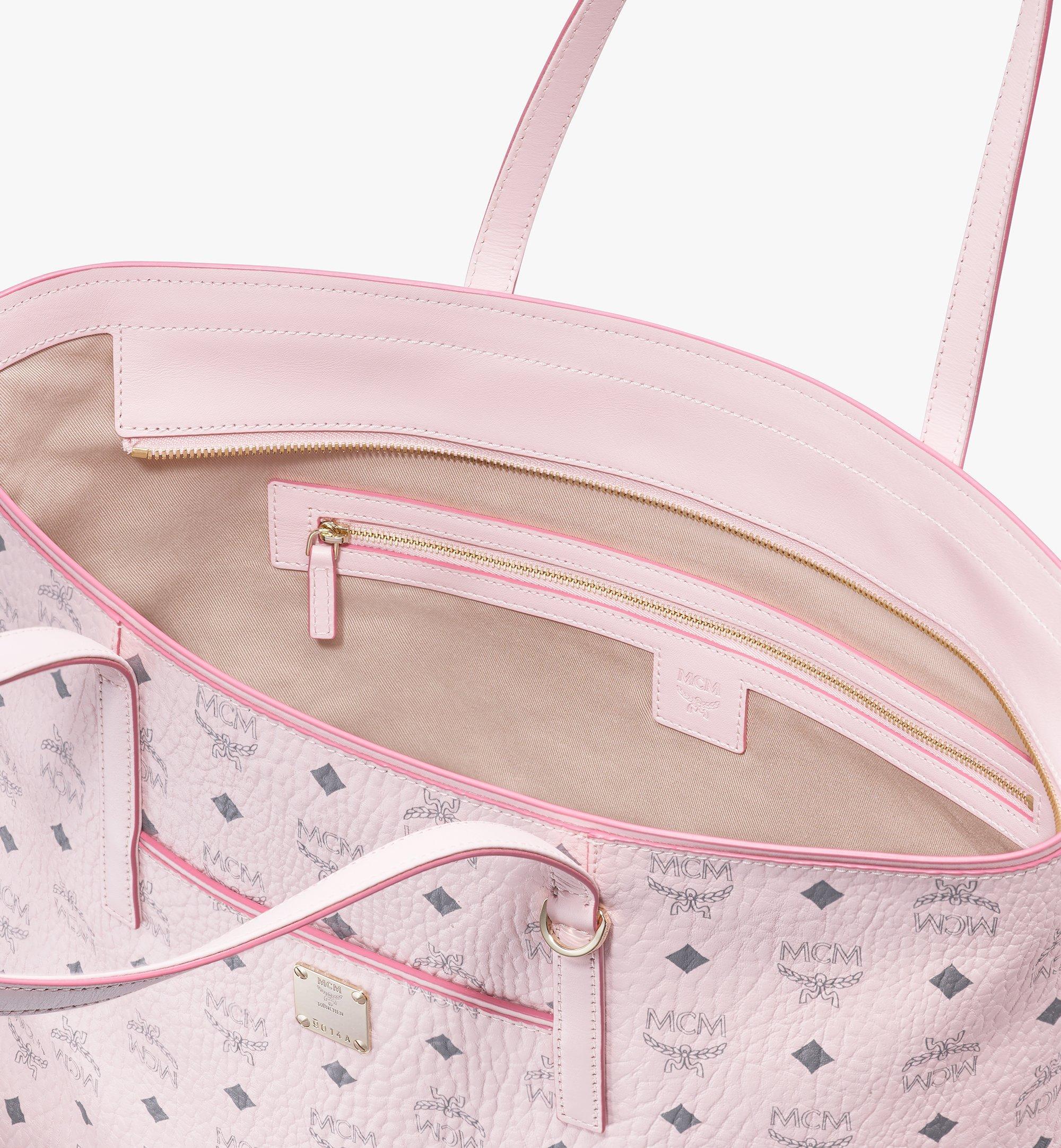 MCM Visetos 系列的 Anya Shopper 包款 Pink MWP9AVI61QH001 更多視圖 3