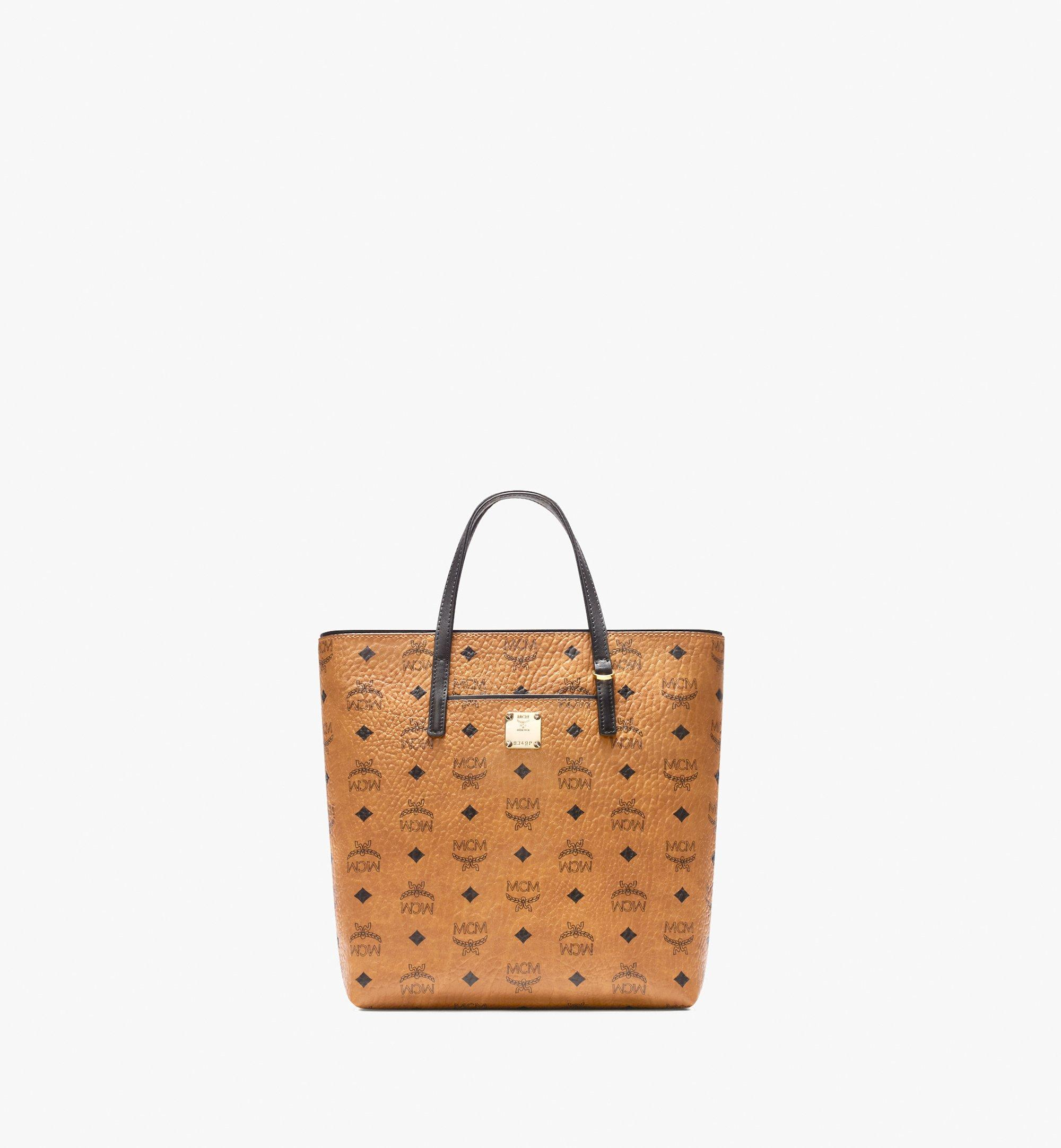 Small Anya Shopper in Visetos Cognac | MCM® DE