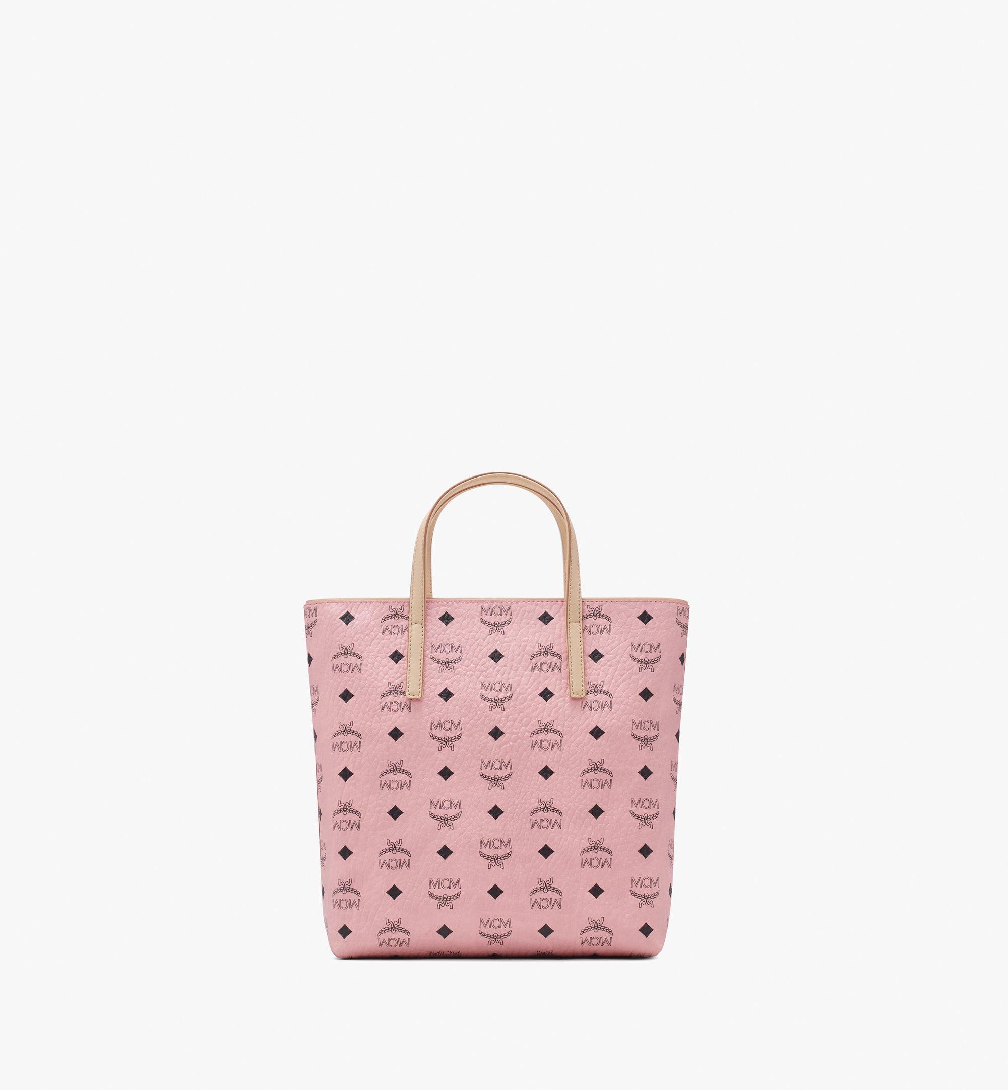 Small Anya Shopper in Visetos Soft Pink   MCM® DE