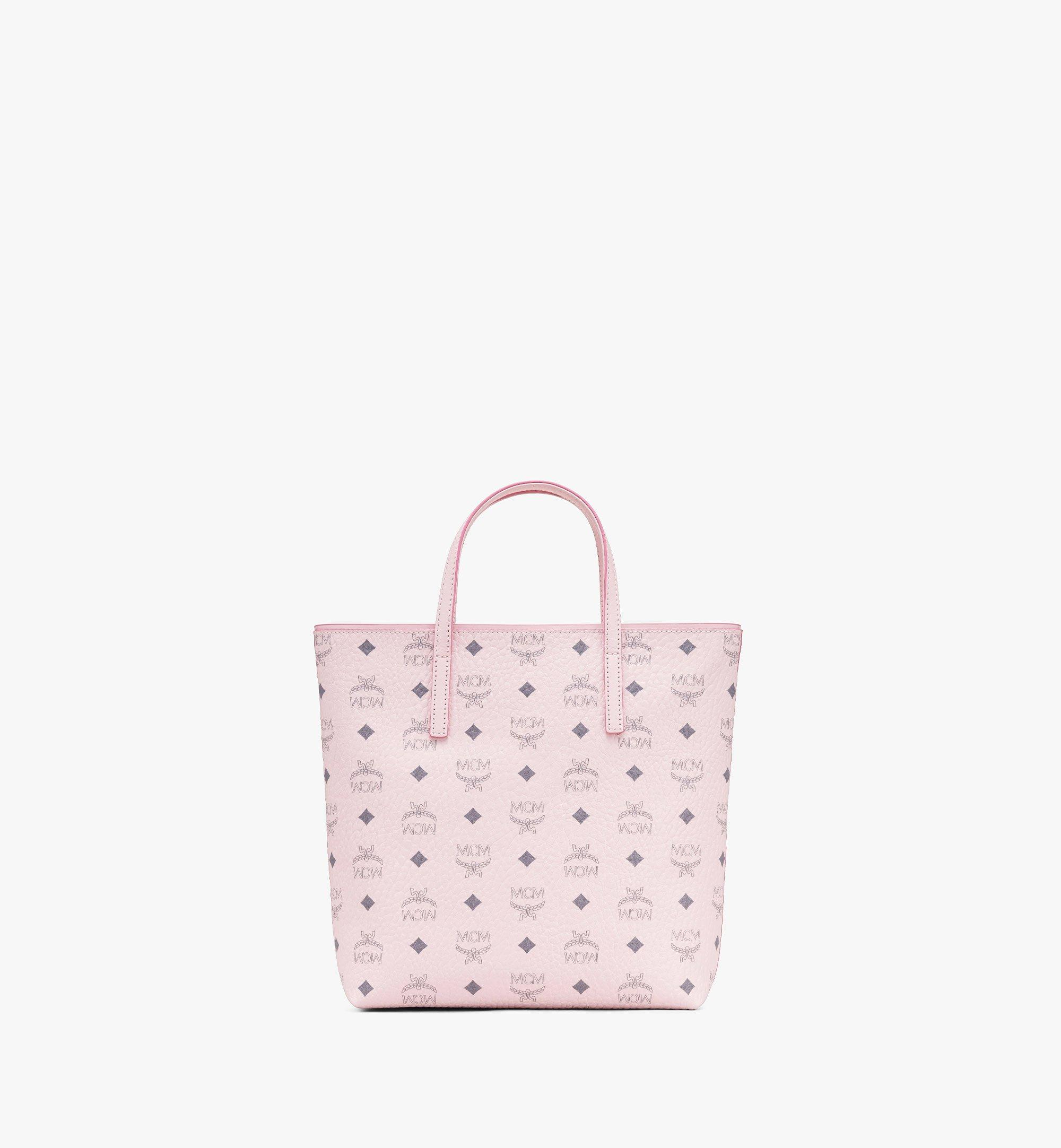 Small Anya Shopper in Visetos Powder Pink | MCM® DE