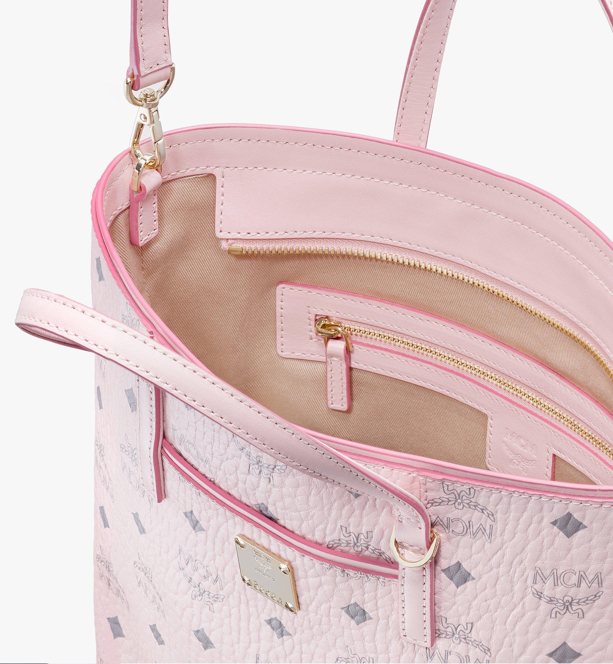 MCM Visetos 系列的 Anya Shopper 包款 Pink MWP9AVI77QH001 更多視圖 3
