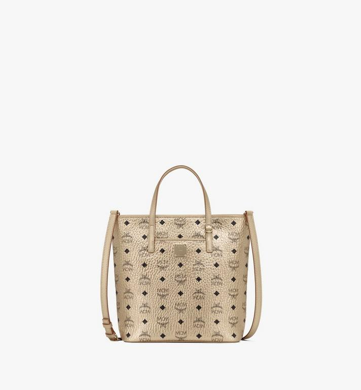 MCM Anya Shopper in Visetos Gold MWP9AVI97T1001 Alternate View 1