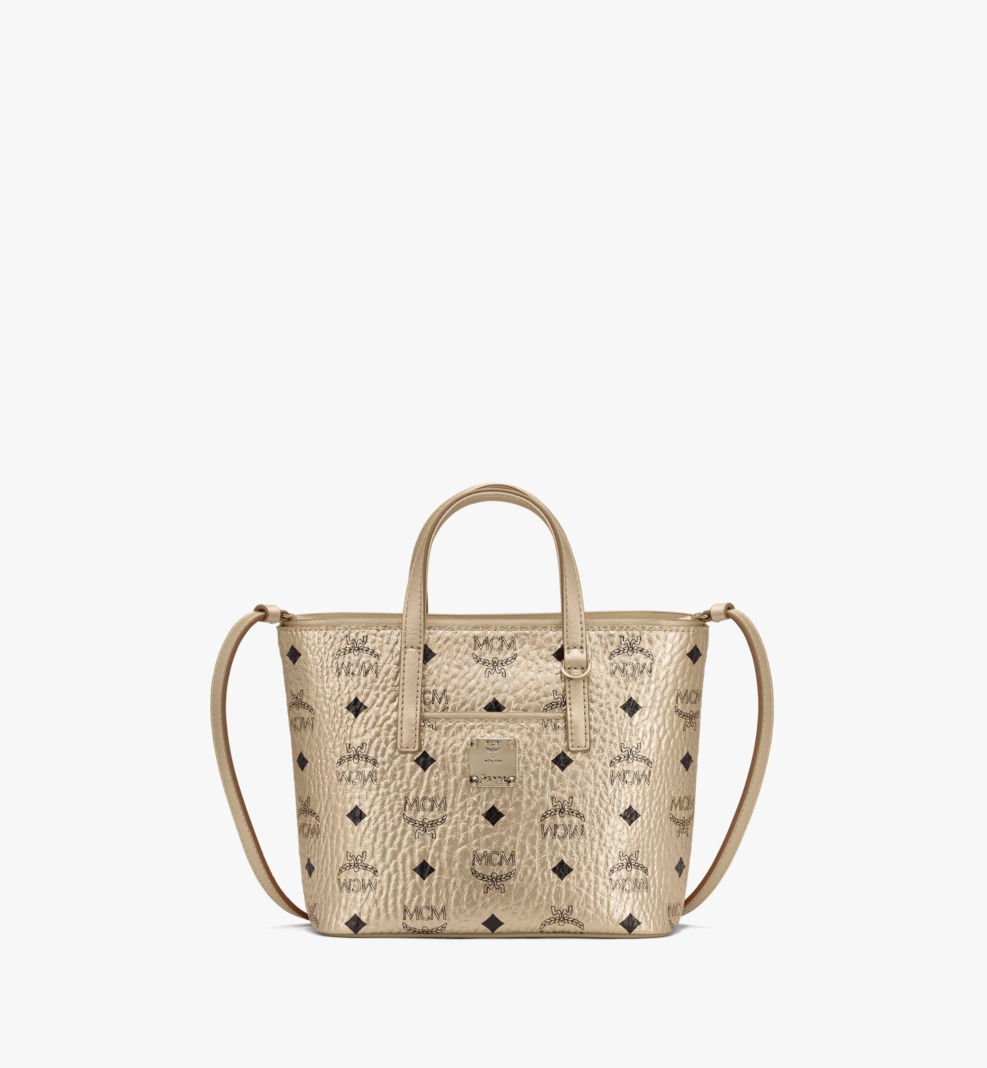 Mini Anya Shopper in Visetos Gold   MCM® DE
