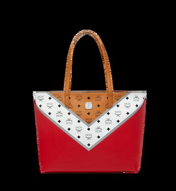 MCM Shopper Tasche mit Reissverschluss oben in M Move Visetos Alternate View