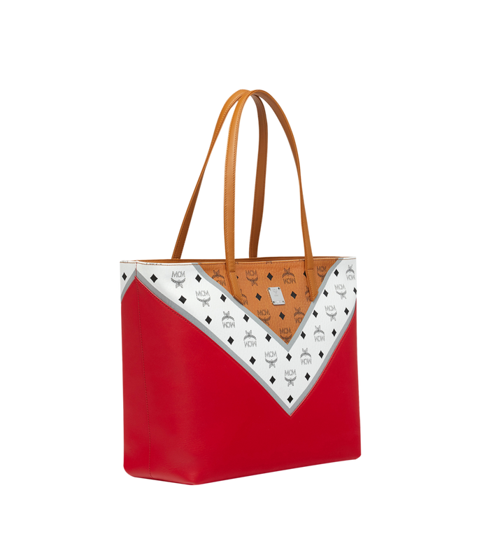 MCM Shopper Tasche mit Reissverschluss oben in M Move Visetos MWP9SCV10CD001 AlternateView2