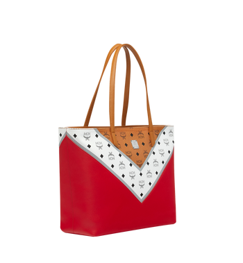 MCM Shopper Tasche mit Reissverschluss oben in M Move Visetos Alternate View 2