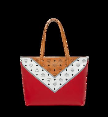 MCM Shopper Tasche mit Reissverschluss oben in M Move Visetos Alternate View 3