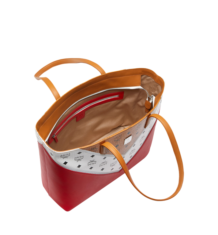 MCM Shopper Tasche mit Reissverschluss oben in M Move Visetos MWP9SCV10CD001 AlternateView5