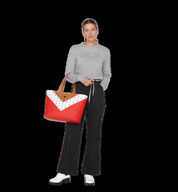 MCM Shopper Tasche mit Reissverschluss oben in M Move Visetos MWP9SCV10CD001 AlternateView6