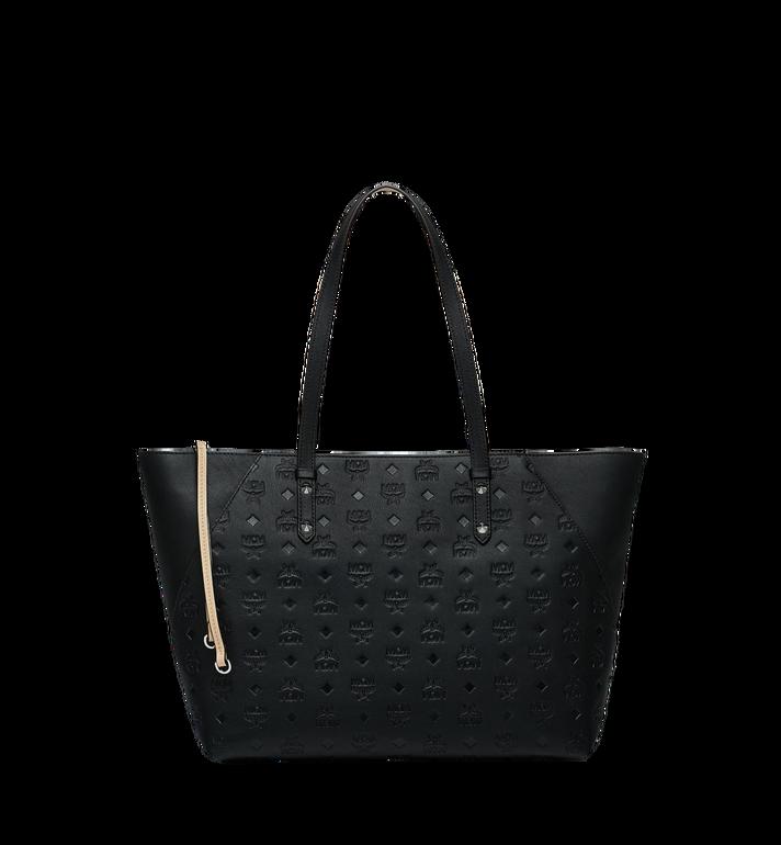 MCM Klara Shopper-Tasche aus Leder mit Monogramm AlternateView