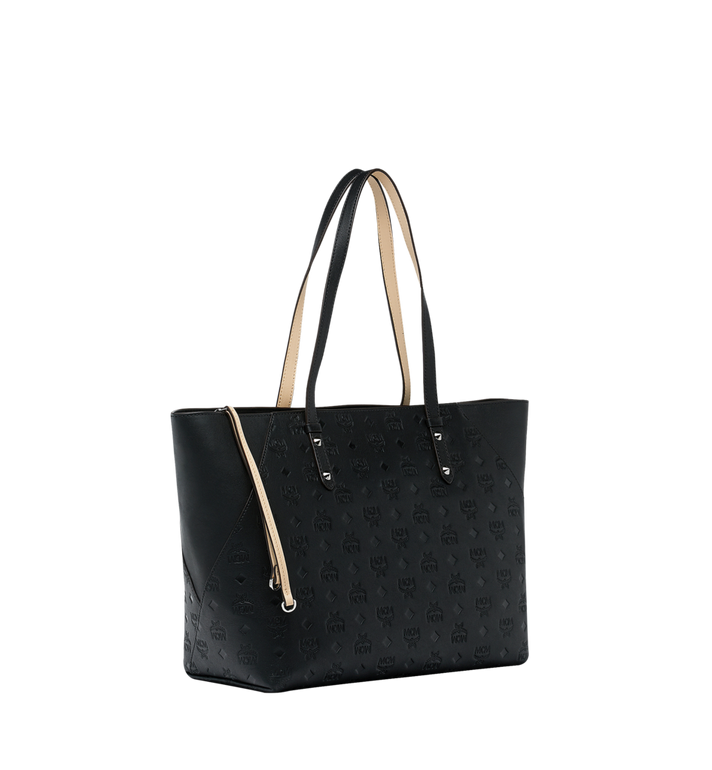 MCM Klara Shopper in Monogram Leather Black MWP9SKM51BK001 Alternate View 2