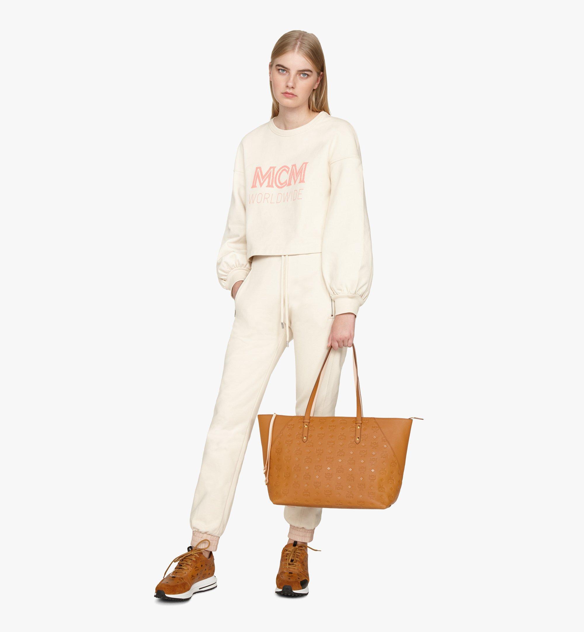 Medium Klara Shopper aus Leder mit Monogramm Cognac | MCM® DE