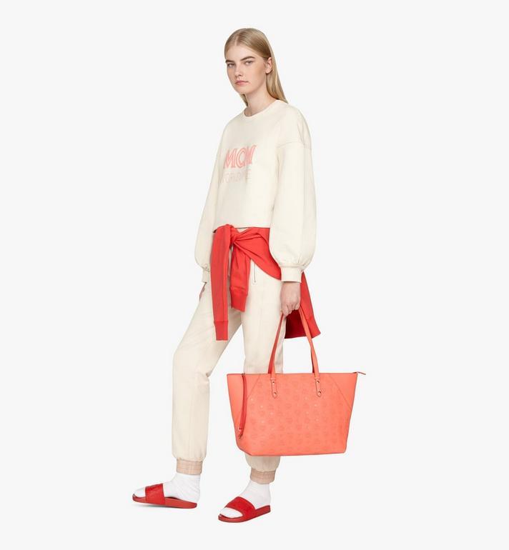 MCM Klara Shopper in Monogram Leather Red MWP9SKM51O3001 Alternate View 5
