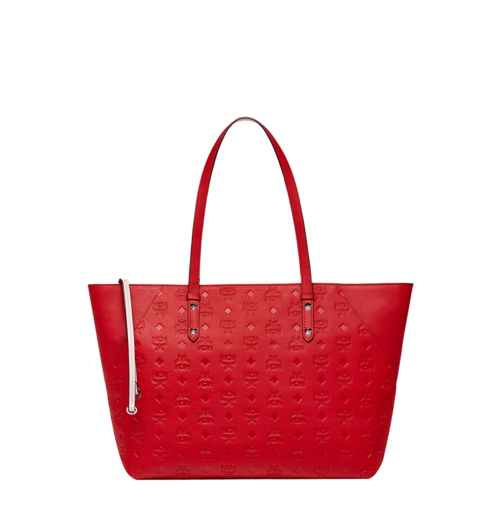 MCM Klara Shopper-Tasche aus Leder mit Monogramm Alternate View