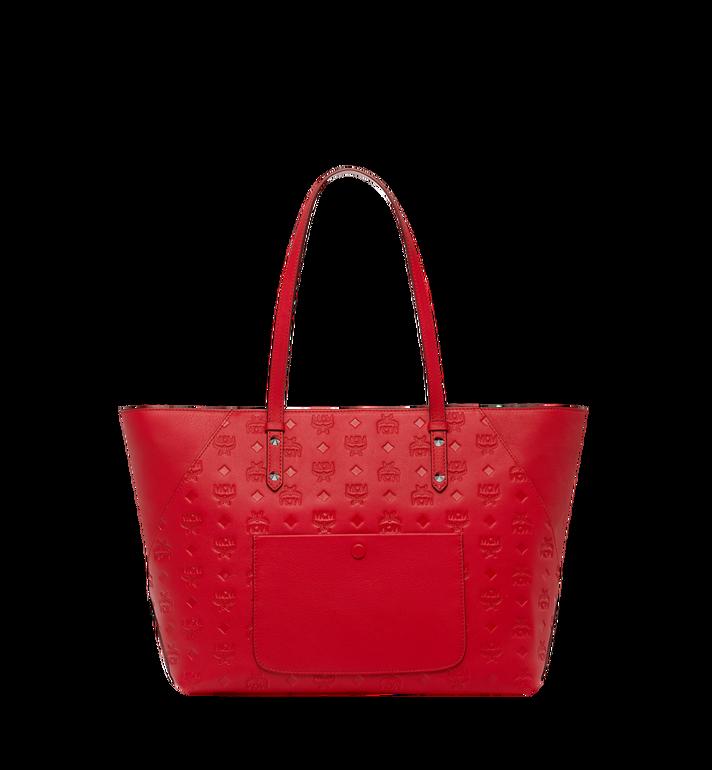 MCM Klara Shopper-Tasche aus Leder mit Monogramm Alternate View 4