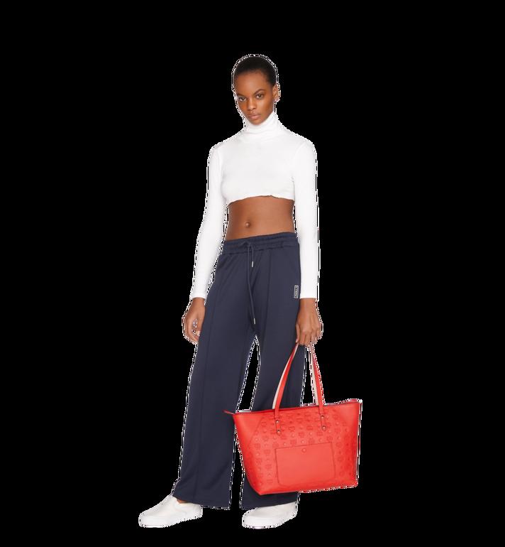 MCM Klara Shopper-Tasche aus Leder mit Monogramm Alternate View 6