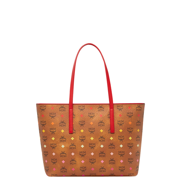 MCM Anya Shopper mit Reissverschluss in Spektrum Visetos Alternate View 4
