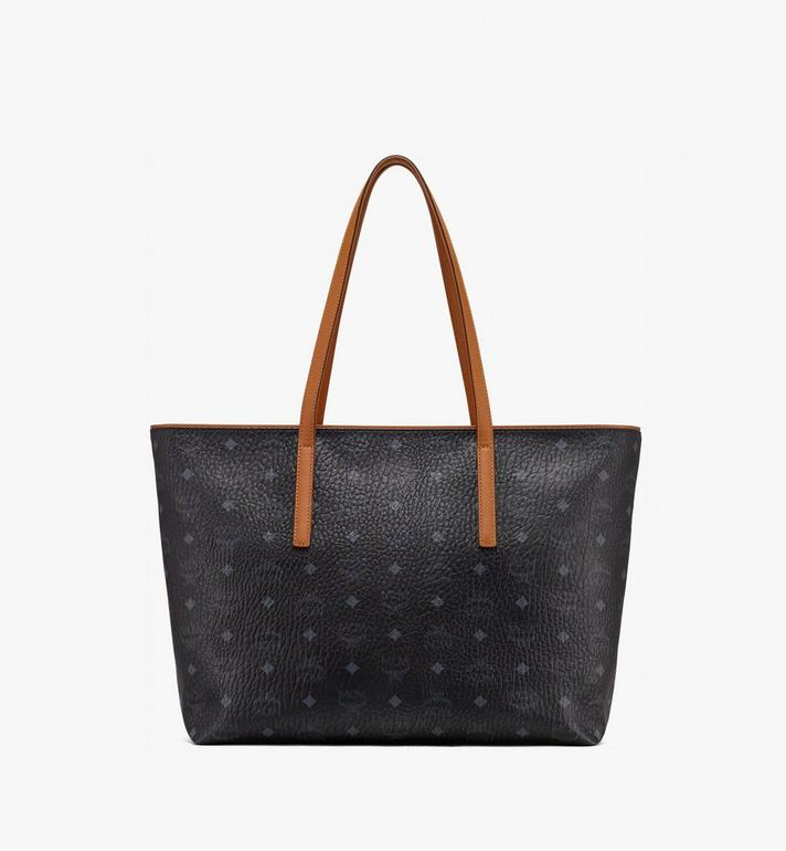 MCM Anya Top Zip Shopper in Visetos MWP9SVI61BK001 AlternateView3