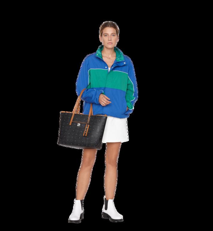 Medium Anya Shopper mit Reissverschluss in Visetos Schwarz