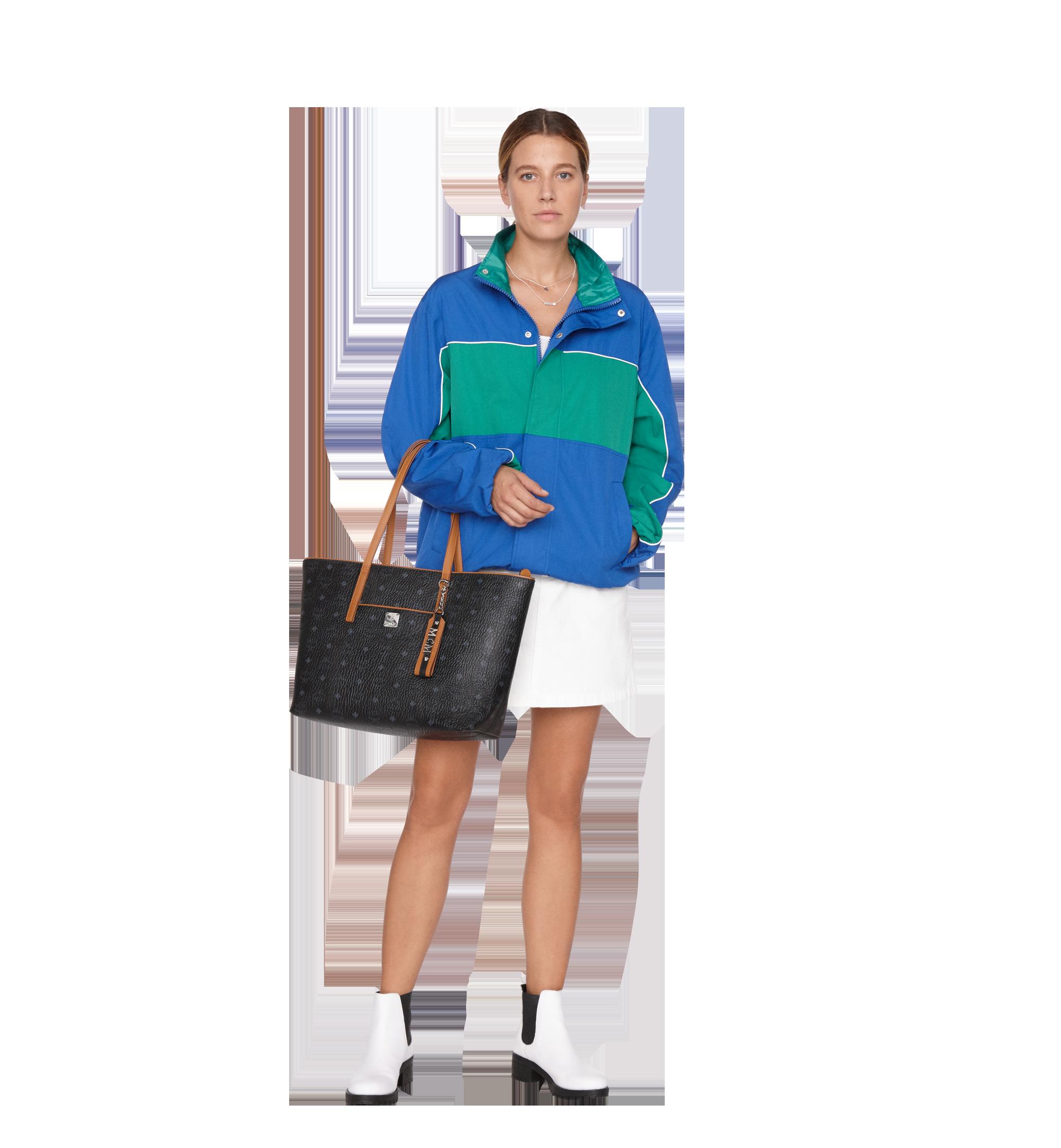 Medium Anya Shopper mit Reissverschluss in Visetos Black
