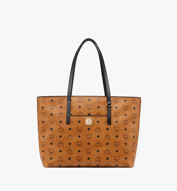 MCM Anya Top Zip Shopper in Visetos MWP9SVI61CO001 AlternateView