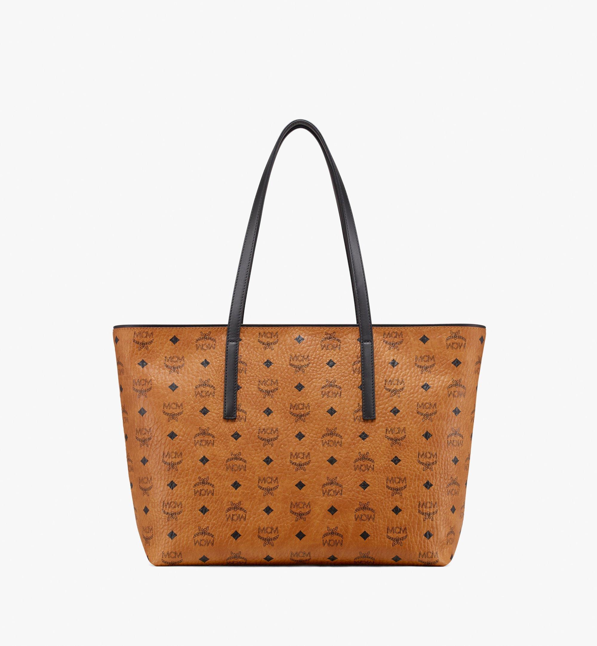 Medium Anya Top Zip Shopper in Visetos Cognac | MCM® DE