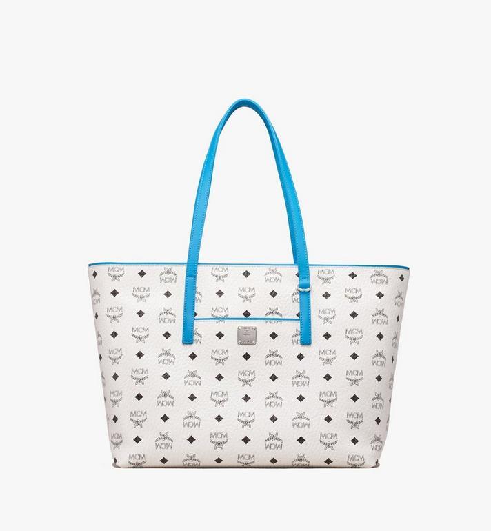 MCM Anya Top Zip Shopper in Visetos MWP9SVI61WT001 AlternateView