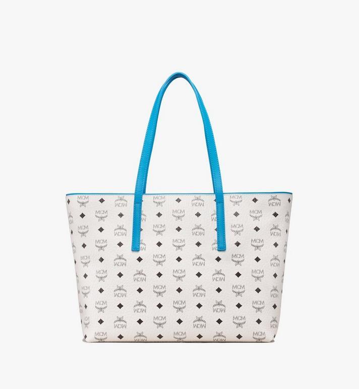 MCM Anya Top Zip Shopper in Visetos MWP9SVI61WT001 AlternateView3