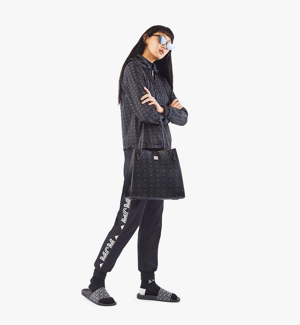MCM Luisa Shopper in Visetos Leather Block Black MWPAALZ01BK001 Alternate View 3