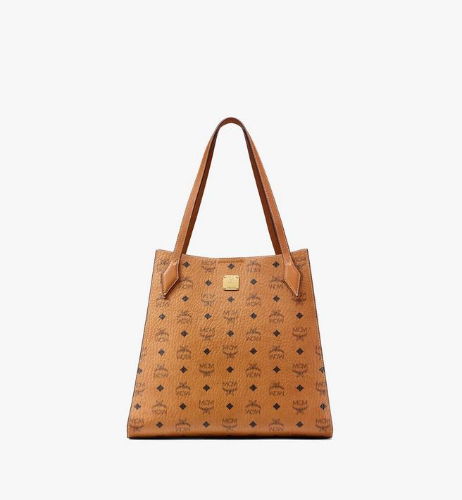 MCM Luisa Shopper in Visetos Leather Block Alternate View