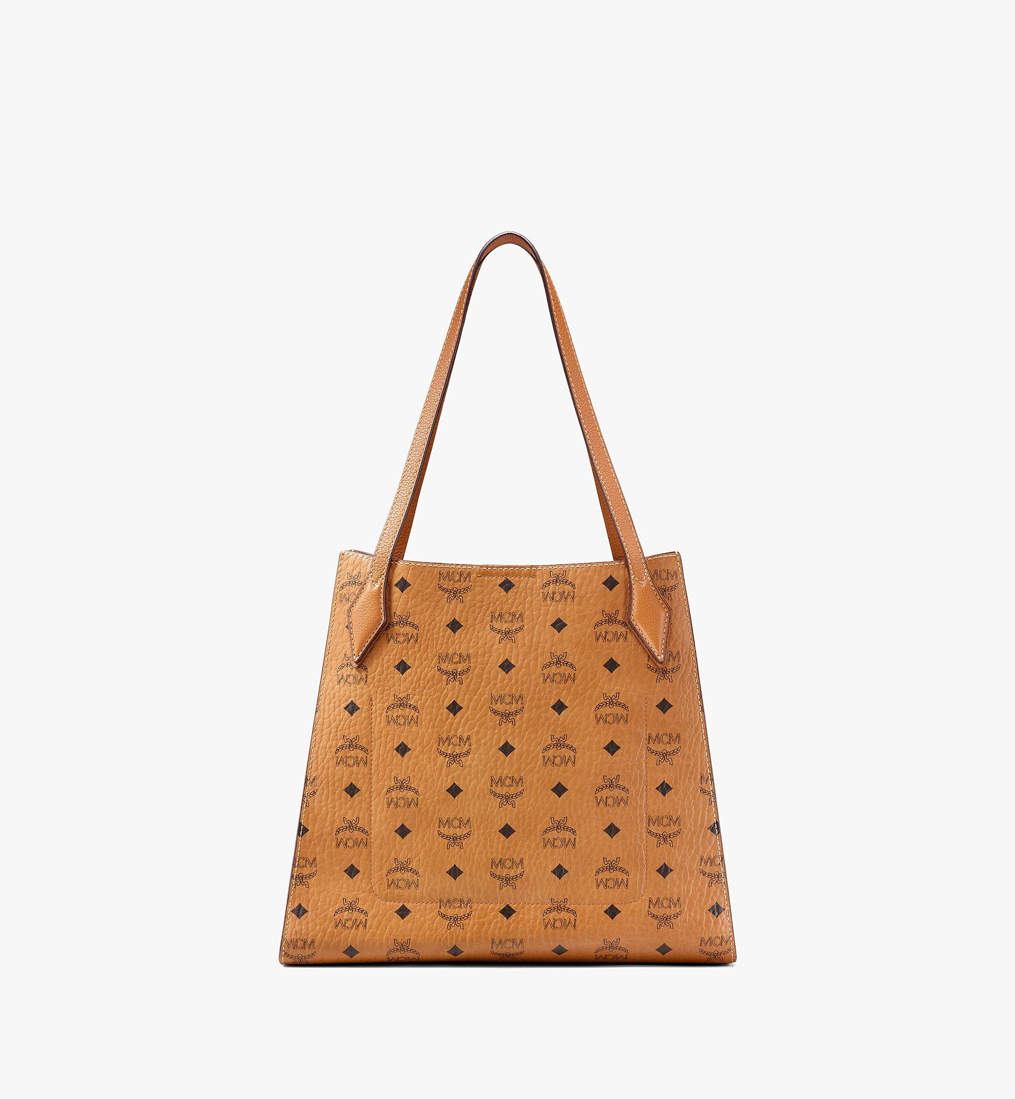 MCM Luisa Shopper in Visetos Leather Block Cognac MWPAALZ01CO001 Alternate View 4