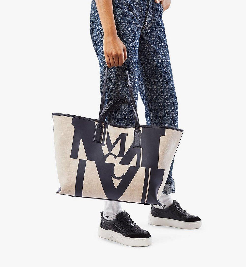 MCM Shopper in Logo Glitch Canvas  MWPAAMH01BK001 Noch mehr sehen 2