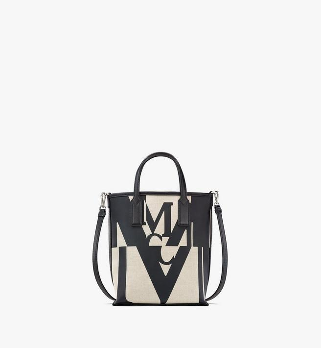 MCM Shopper in Logo Glitch Canvas Alternate View