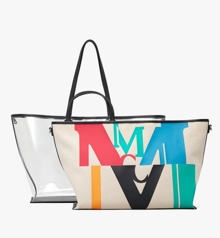 MCM Sac cabas Logo Glitch Hologram  MWPAAMH03MT001 Alternate View 5