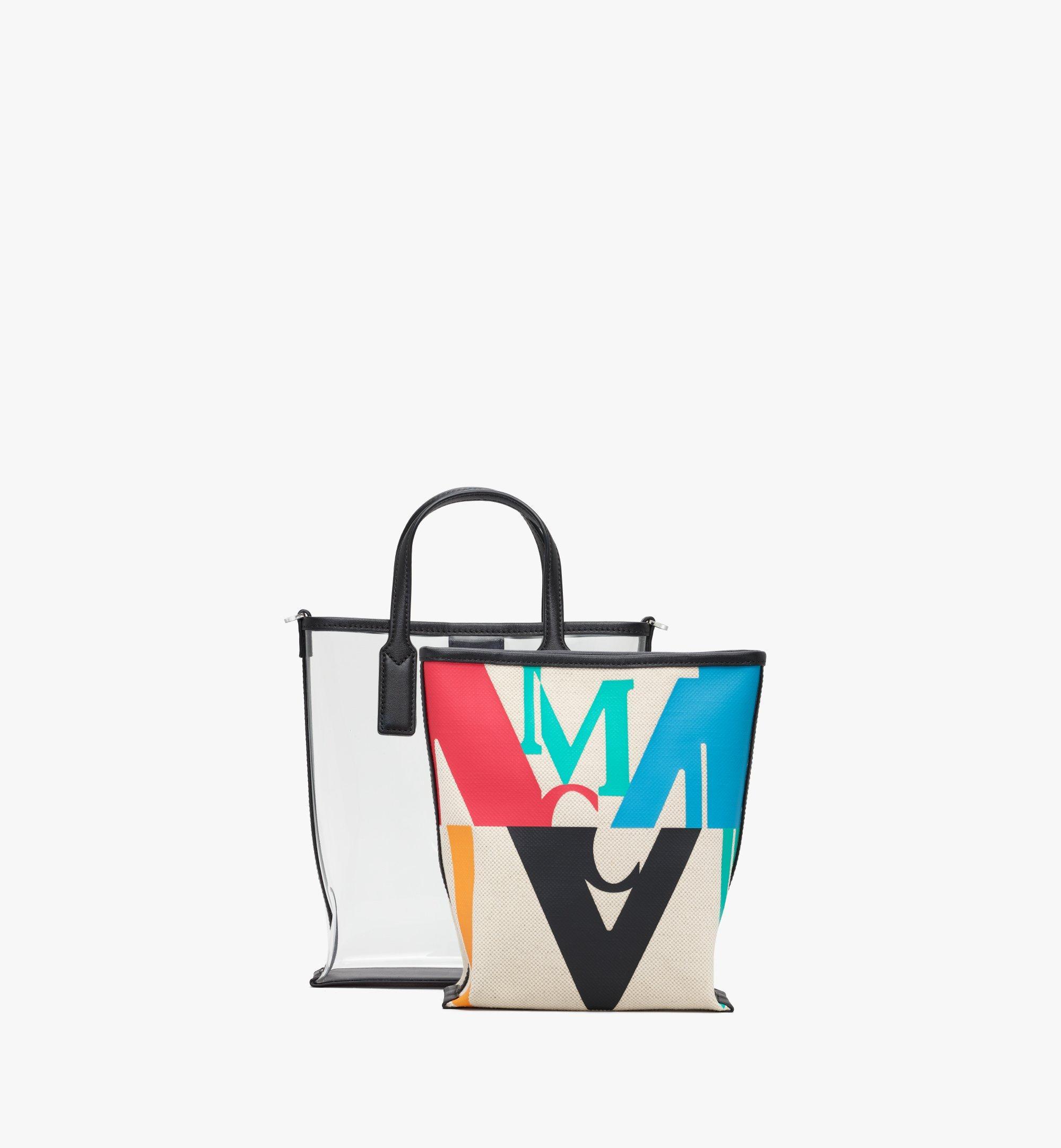 MCM Shopper in Logo Glitch Hologram Multi MWPAAMH04MT001 Alternate View 5