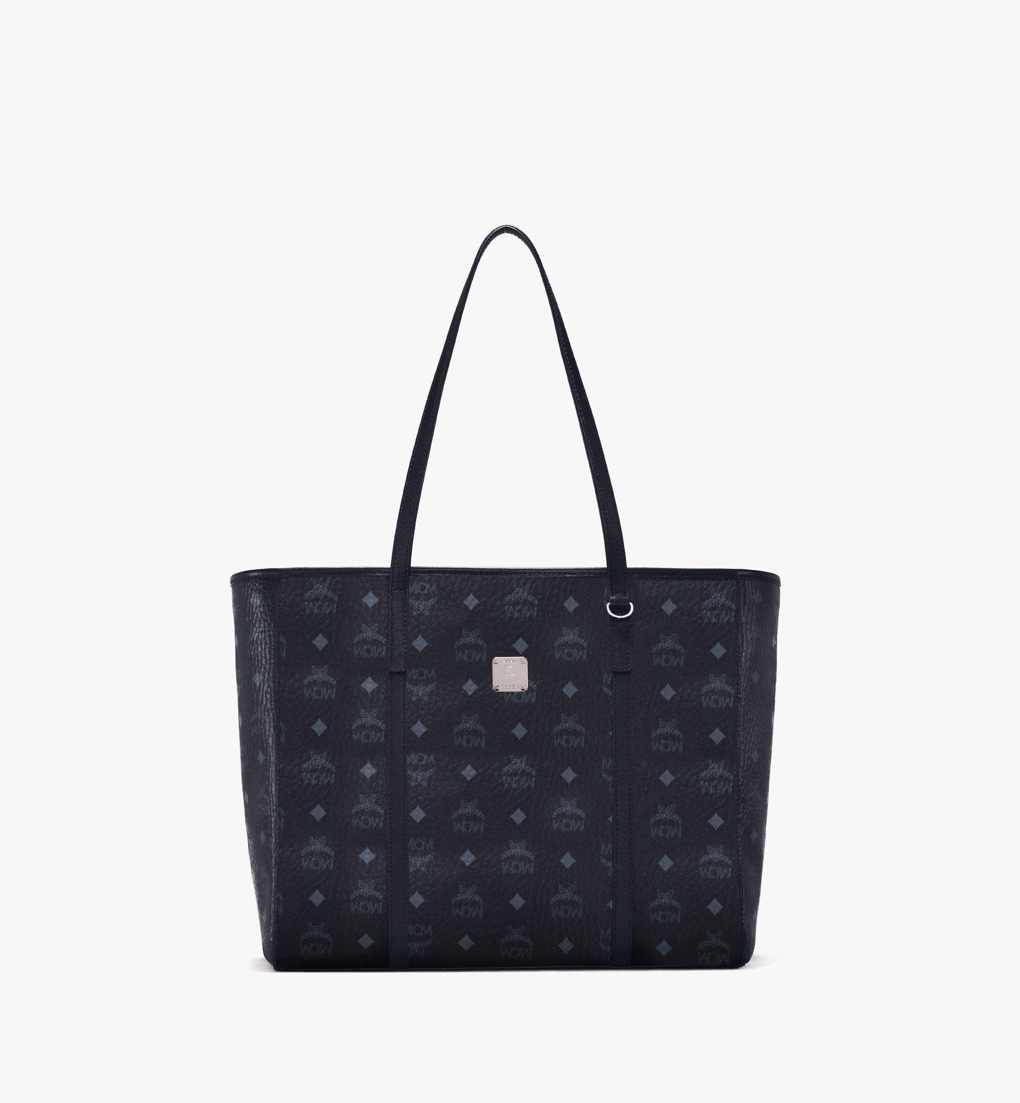 MCM Toni E/W Shopper in Visetos Black MWPAATN01BK001 Alternate View 1