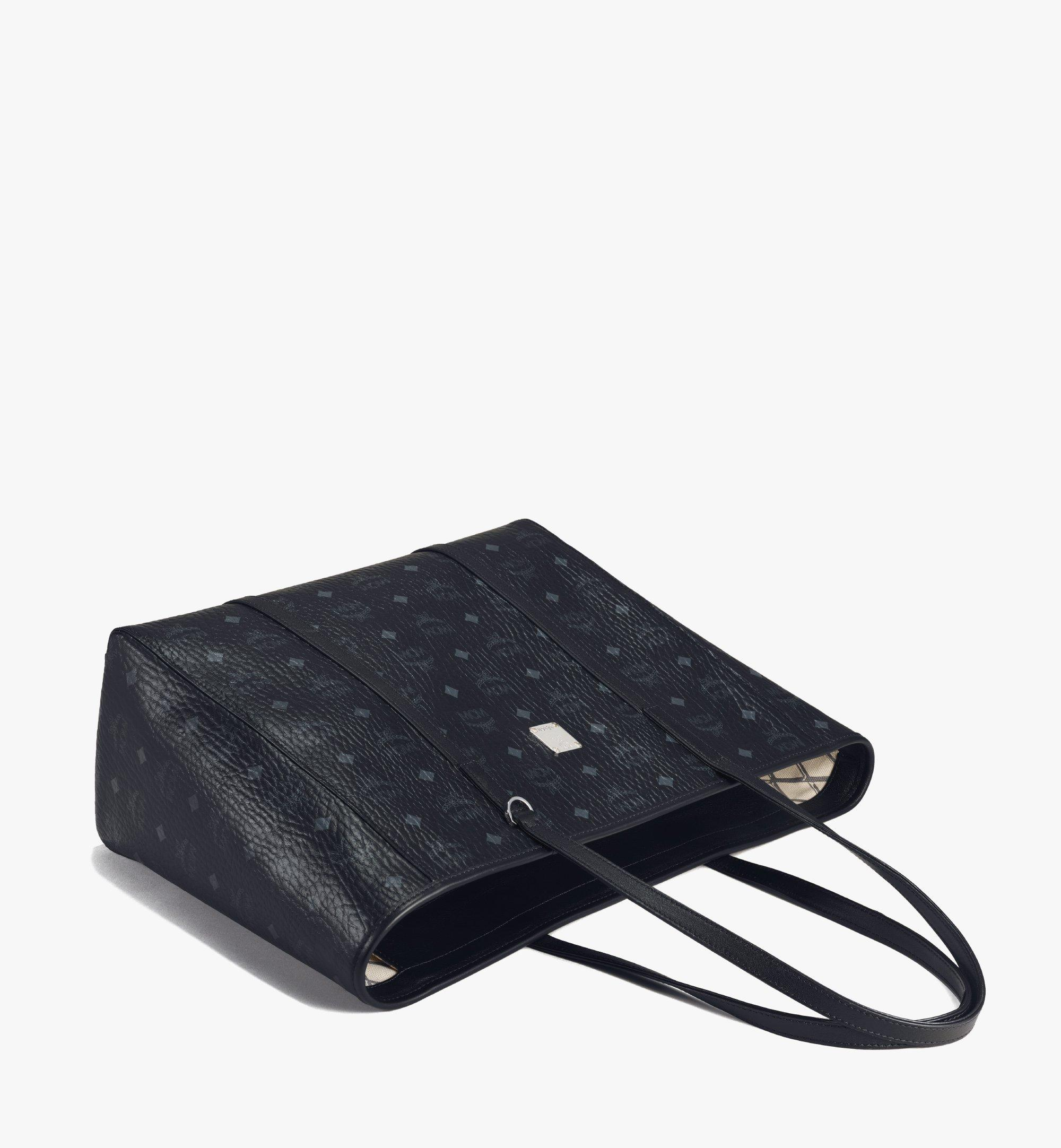 MCM Toni E/W Shopper in Visetos Black MWPAATN01BK001 Alternate View 2