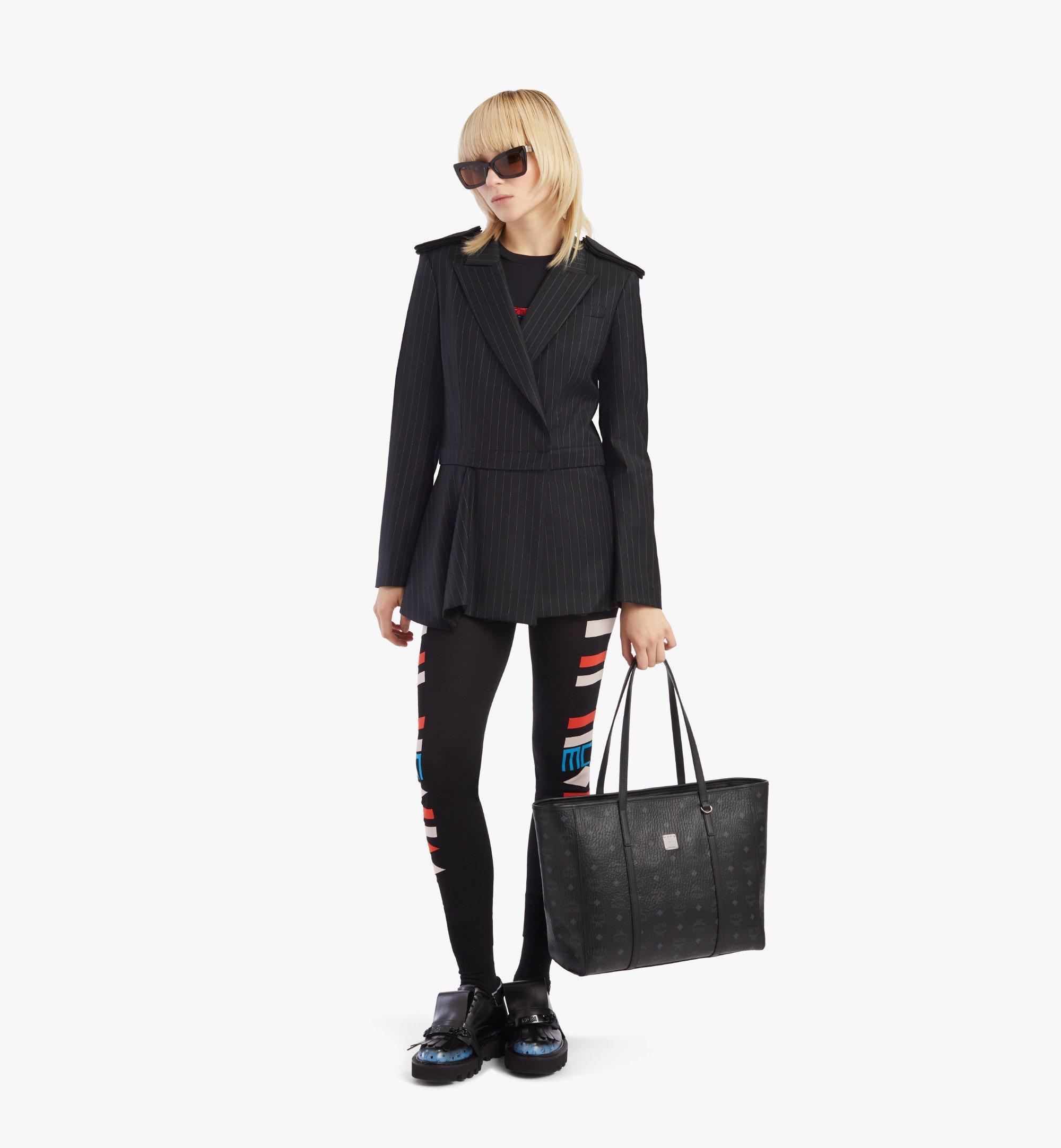 MCM Toni E/W Shopper in Visetos Black MWPAATN01BK001 Alternate View 3
