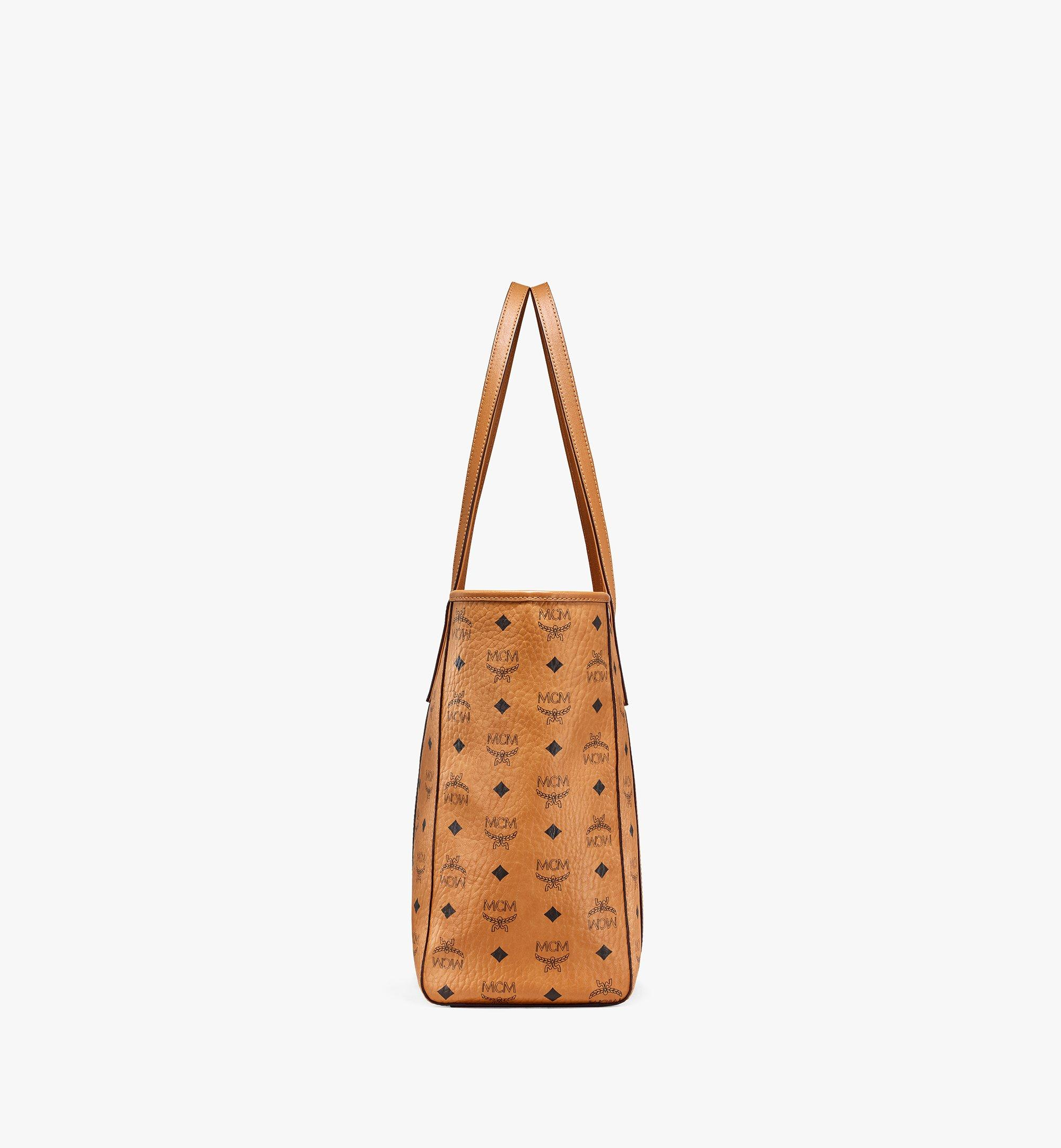 MCM Toni E/W Shopper in Visetos Cognac MWPAATN01CO001 Alternate View 1