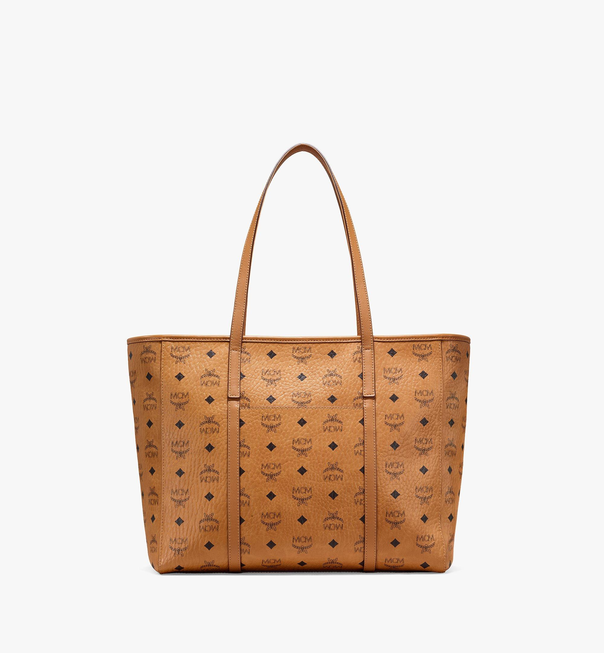 MCM Toni E/W Shopper in Visetos Cognac MWPAATN01CO001 Alternate View 3