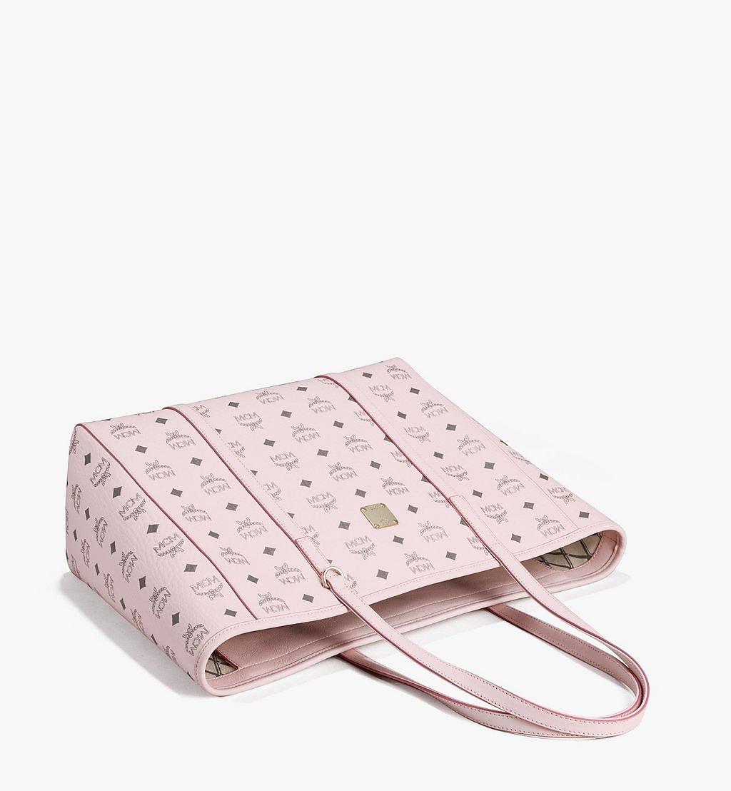 MCM Toni E/W Shopper in Visetos Pink MWPAATN01QH001 Alternate View 2