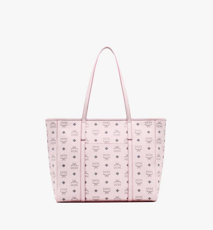 MCM Toni Shopper in Visetos Pink MWPAATN01QH001 Alternate View 4