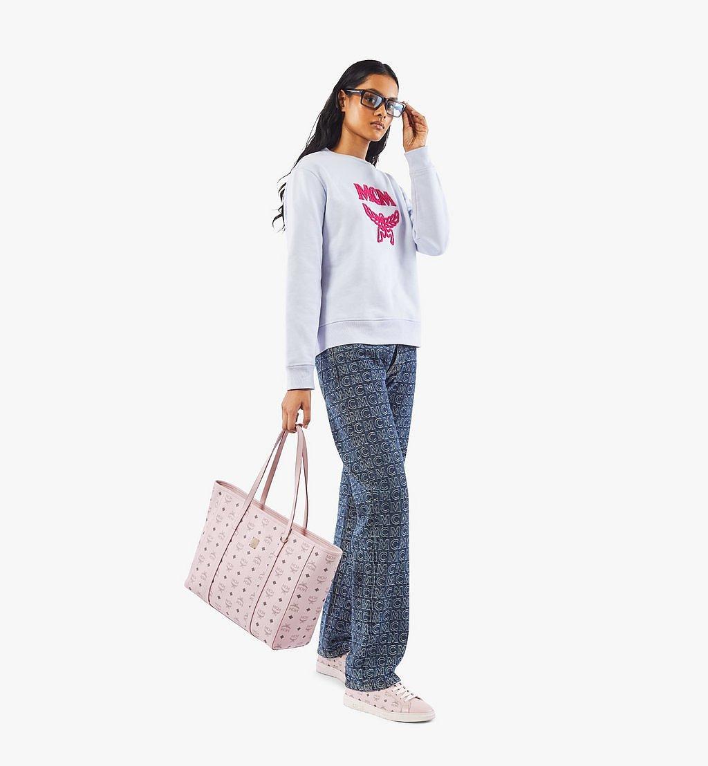 MCM Toni E/W Shopper in Visetos Pink MWPAATN01QH001 Alternate View 3