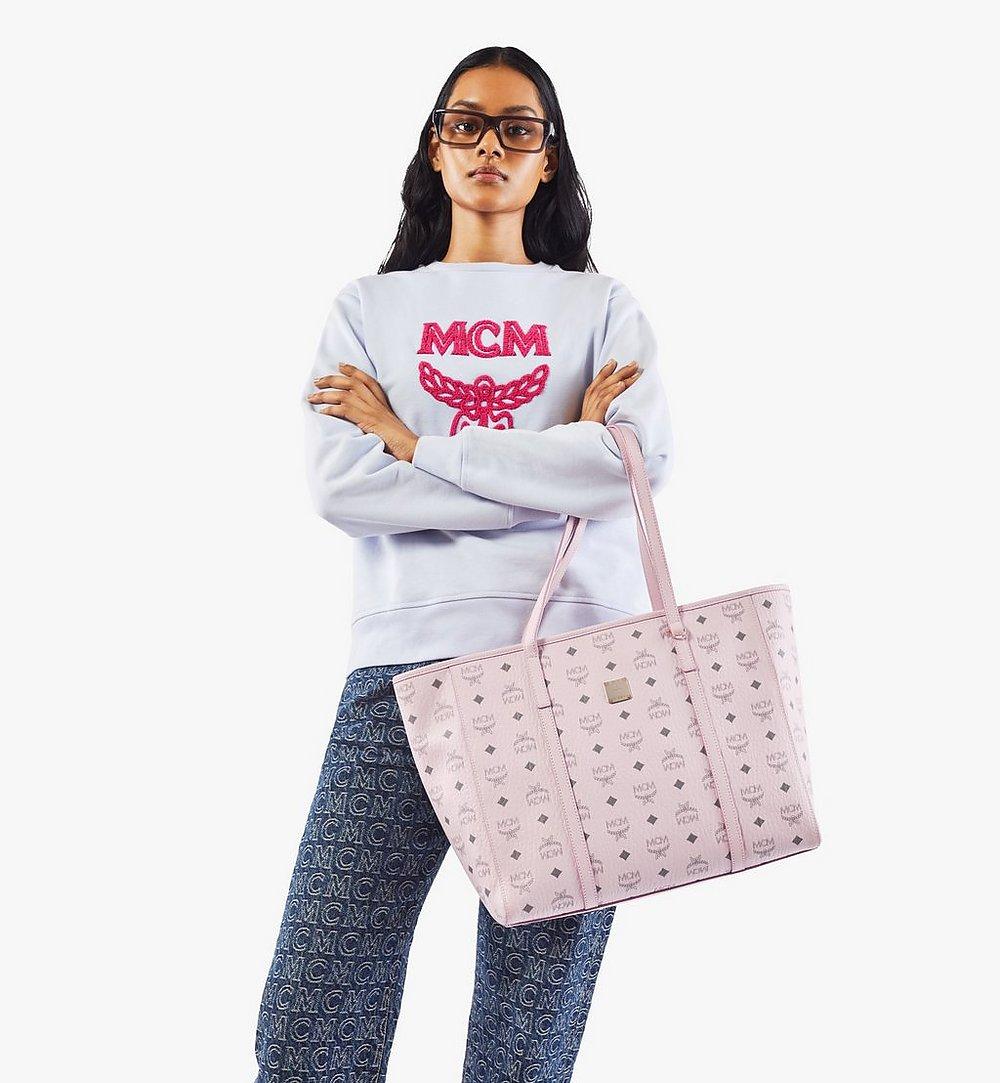 MCM Toni Shopper in Visetos Pink MWPAATN01QH001 Alternate View 2