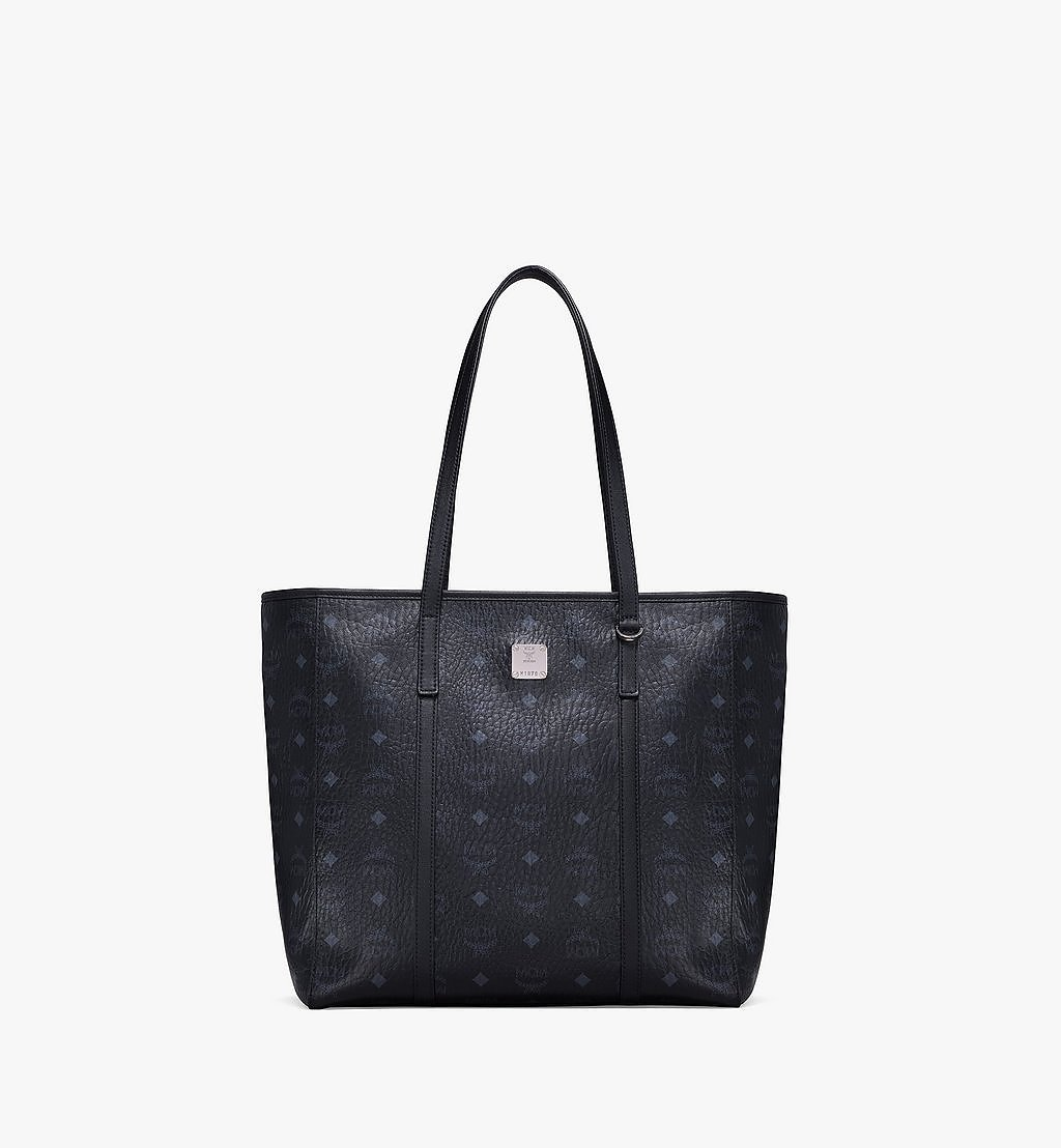 MCM Toni Shopper in Visetos Black MWPAATN03BK001 Alternate View 1