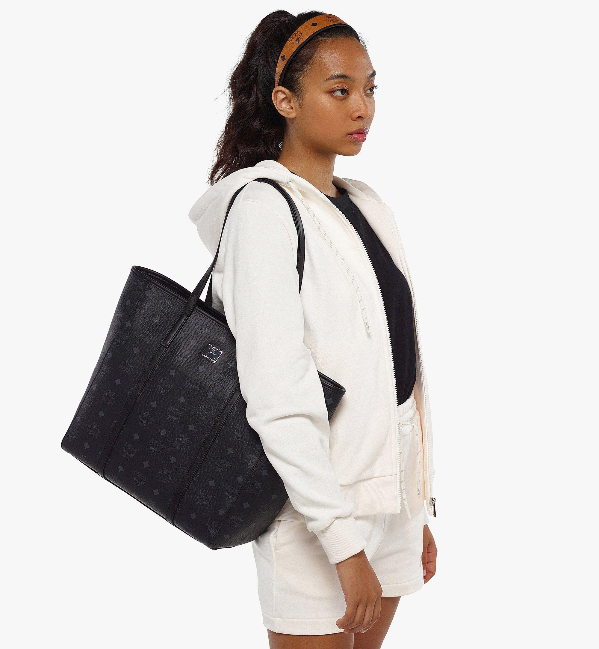 MCM Toni Shopper in Visetos Black MWPAATN03BK001 Alternate View 5